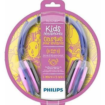 Philips SHK2000PK/00 Pembe/Mor Kulaküstü Çocuk Kulaklýðý