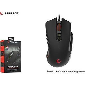 Rampage SMX-R22 Phoenix RGB 4800dpi 7 Tuþlu Gaming Oyuncu Mouse