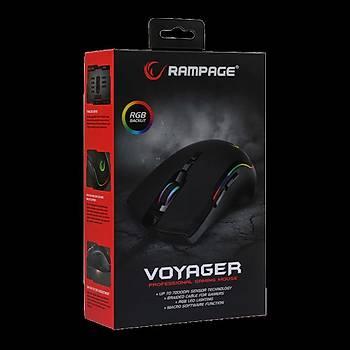 Rampage SMX-R27 7200 DPI Voyager USB RGB Makrolu Gaming Oyuncu Mouse -Siyah
