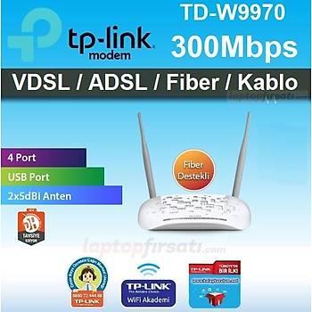 TP-Link TD-W9970 300Mbps Kablosuz N USB VDSL2 Modem Router