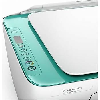 ????HP Deskjet 2632 Fotokopi+Tarayýcý+Wi-Fi+Airprint Yazýcý V1N05B