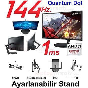 SAMSUNG 144 Hz.1ms. CURVED 24FG70 QUANTUM DOT FreeSync Gaming Mon