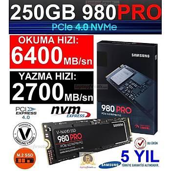 Samsung 980 Pro 250GB 6400MB-2700 MB/s Nvme M.2 SSD MZ-V8P250BW