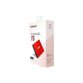 SAMSUNG T5 1TB  SSD TAÞINABÝLÝR HDD MU-PA1T0R/WW KIRMIZI