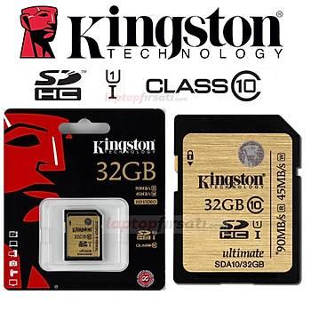 ????Kingston 32GB SDHC C10 UHS-I Ultimate Hafýza Kartý SDA10/32GB
