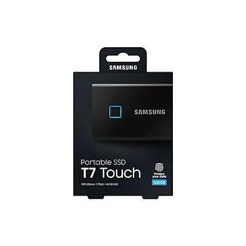 Samsung T7 Touch 500GB USB 3.2 Gen 2 MU-PC500K/WW Taþýnabilir SSD Siyah