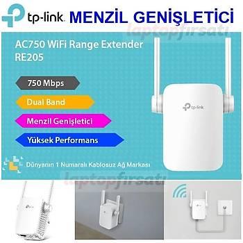 TP-Link RE205 AC 750 Mbps Kablosuz Menzil Geniþletici