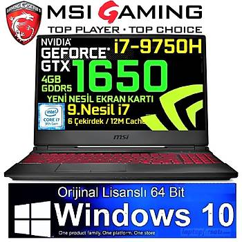 MSI GL65 9SC-042TR i7-9750H 8GB 256GB SSD GTX1650 WIN10 15.6'' FHD