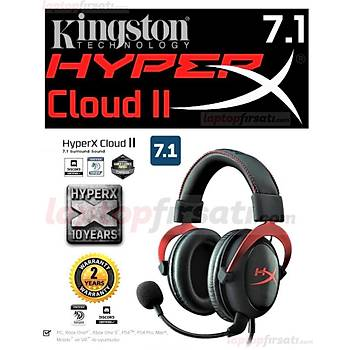 Kingston HyperX Cloud II Oyuncu Kýrmýzý Kulaklýk KHX-HSCP-RD