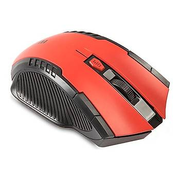 Everest SMW-248 Kýrmýzý 6D 1600/1200/800 Dpi Kablosuz Mouse