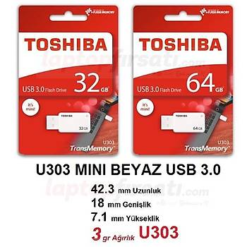 5 YIL GARANTLİ 64 GB USB 3.0 TOSHIBA THN-U303W0640E4