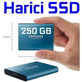 SAMSUNG T5 250GB TAÞINABÝLÝR HARÝCÝ SSD MU-PA250B/WW - 3y garanti