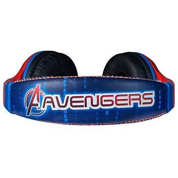 Marvel Avengers Lisanslı Çocuk Kulaklığı MV-1001-VAV - Kırmızı