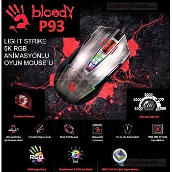 Bloody P93 Lk 5K Multi Core Kurþun Gri 5000Cpý-Rgb Oyuncu Mouse