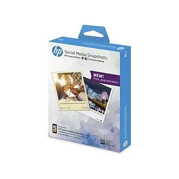 HP Social Media Snapshots Çıkarılabilir Yapışkan Fotoğraf Kağıdı