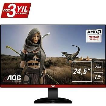 AOC G2590VXQ 24.5 75Hz 1ms VGA+HDMI+Display FreeSync FHD Monitör