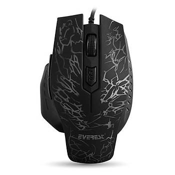 Everest SM-700 Kablolu Siyah Oyun Mouse