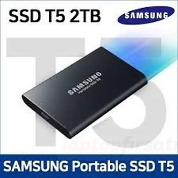 SAMSUNG 2TB T5 TAÞINABÝLÝR HARÝCÝ SSD MU-PA2T0B/WW 3 YIL SAMSUNG GARANTÝLÝ