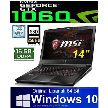MSI GS43VR 7RE(Phantom Pro)091TR i7 7700HQ 16GB 1+256 SSD GTX1060 W10 14.0