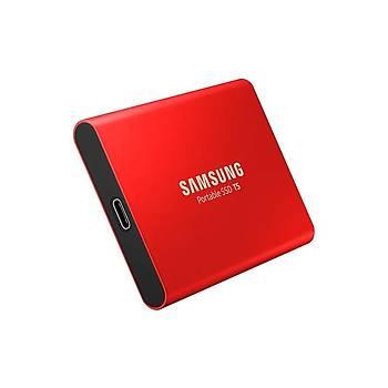 SAMSUNG T5 1TB  SSD TAŞINABİLİR HDD MU-PA1T0R/WW KIRMIZI