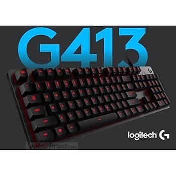 Logitech G413 Carbon 920-008311 Iþýklý Mekanik Oyuncu Klavyesi Kablolu