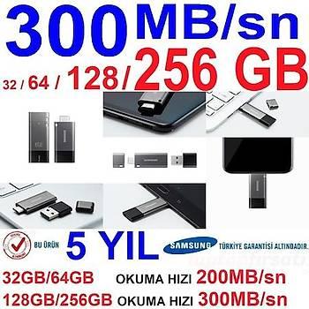 SAMSUNG Yüksek Hýzlý 32GB USB 3.1+TYPE C+A OTG DUO+ MUF-32DB/APC