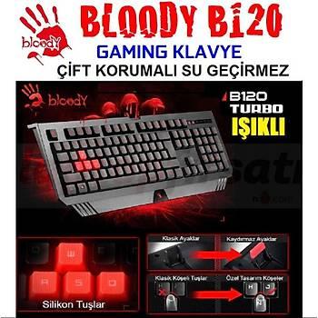 Bloody B120 Turbo Kablolu Led Aydýnlatmalý Siyah Oyuncu Klavye