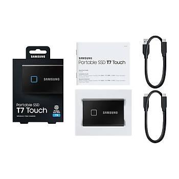 Samsung T7 Touch 1TB USB 3.2 Gen 2 MU-PC1T0K/WW Taþýnabilir SSD Siyah