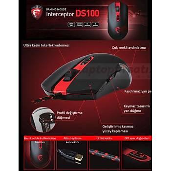 MSI Interceptor DS100 3500 DPI LASER 8 BUTON Oyuncu Mouse