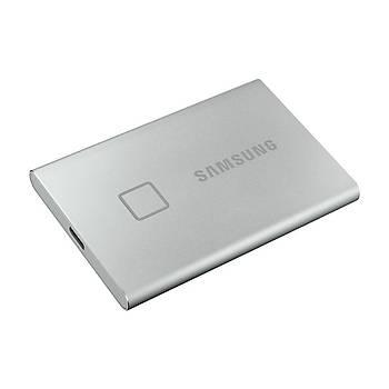 Samsung T7 Touch 500GB USB 3.2 Gen 2 MU-PC500S/WW Taþýnabilir SSD Gümüþ