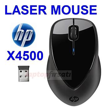 ????HP x4500 KABLOSUZ LASER MOUSE 1600 DPI H2W26AA (2 YIL PÝL ÖMRÜ)