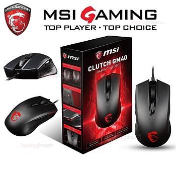 MSI Clutch GM40 5000DPI 9 Tuþ Optik Siyah Gaming Mouse