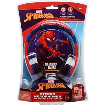 Marvel Spiderman Örümcek Adam Lisanslý Çocuk Kulaklýk MV-1001-VSM-Kýrmýzý