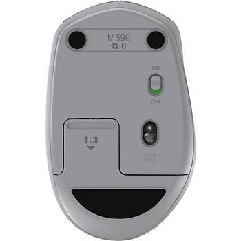 Logitech M590 Silent Kablosuz Mouse - Gri