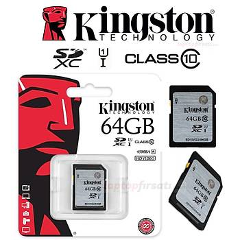 Kingston 64GB Class10 UHS-I SDXC Hafýza Kartý 45MB/s SD10VG2/64GB