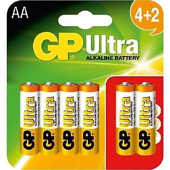 GP Alkalin LR6 AA 6x(4+2) Kalem Pil