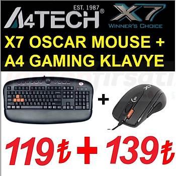 A4 TECH OSCAR X7 KX-2810BK KLAVYE MOUSE GAMER SET