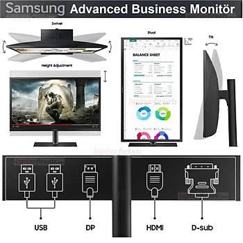 Samsung LS24H650FDMXUF 23.8 5ms VGA+HDMI+DP+USB TYPE-C FHD Pivot PLS Monitör