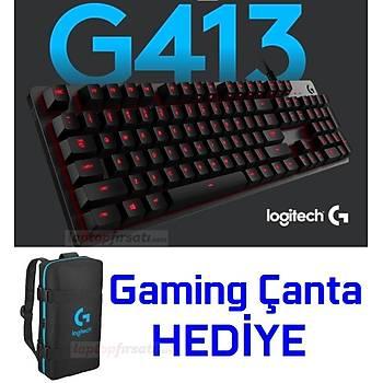 Logitech G413 Mekanik Gaming Klavye 920-008311+ Çanta Hediyeli