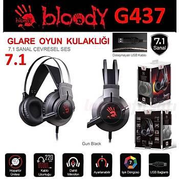 Bloody G437 7.1 GLARE Gamer Mikrofonlu 7 RENK NEON IÞIK Kulaklýk
