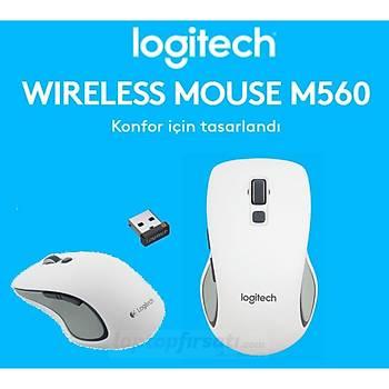 Logitech M560 Kablosuz Beyaz Mouse 910-003913