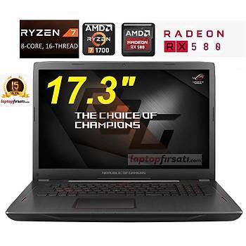 ASUS ROG STRIX GL702ZC-GC207T RYZEN 7-1700 16GB 1TB+256SSD AMD RX580 17.3