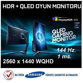 Samsung LC32HG70QQMXUF 31.5 144Hz.1ms QHD HDR QLED (DP+2xHDMI+2xUSB) FreeSync HDR600 Curved Oyuncu Monitör