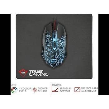 Trust 22736 GXT 783 Oyuncu Mouse ve Mouse Pad