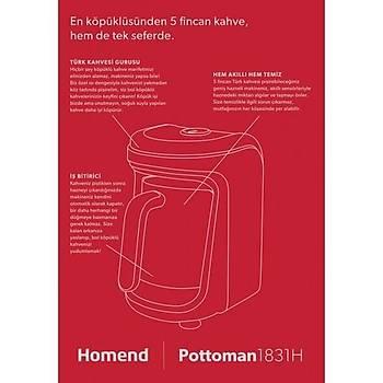Homend Pottoman 1831H Kýrmýzý Türk Kahve Makinesi