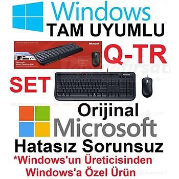 Microsoft Wired Desktop 600 USBKablolu Klavye Mouse Set 3J2-00018