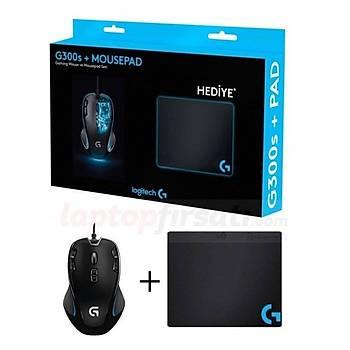 Logitech G300s Oyuncu Mouse+Mousepad+Sticker+Bardak Altlığı 910-004346