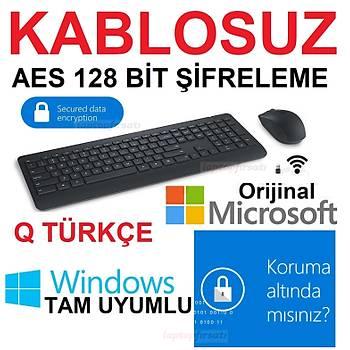 ????Microsoft Desktop 900 Kablosuz AES Klavye + Mouse Set PT3-00016
