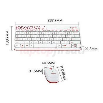 Logitech Mk240 Mini Beyaz Kablosuz Klavye Mouse Set 920-005798