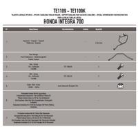 GIVI TE1109 HONDA INTEGRA 700 (12-13) YAN KUMAS ÇANTA TASIYICI